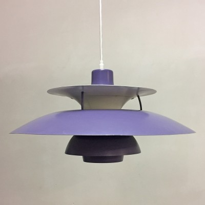 Purple PH5 pendant by Poul Henningsen for Louis Poulsen, 1960s