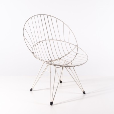 2x Combex Wire Chair by Cees Braakman