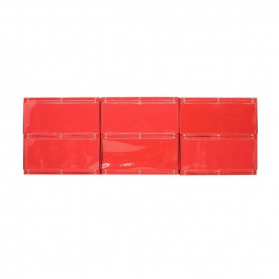 Rare Otto Zapf Red Plastic Shelf System, Germany 1971