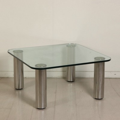 Steel & Glass Coffee Table by Marco Zanuso, 1960s-1970s