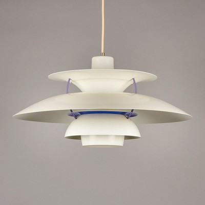 Vintage white PH5 pendant lamp by Poul Henningsen for Louis Poulsen, 1950's