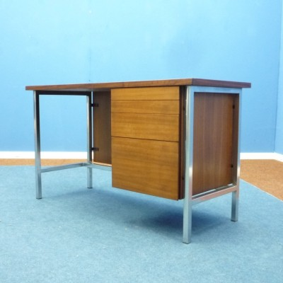 Walnut Ladies Desk by Florence Knoll for Knoll International, 1950s
