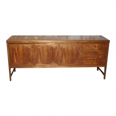 Scandinavian style 'Circles' sideboard in teak by Nathan Furniture England