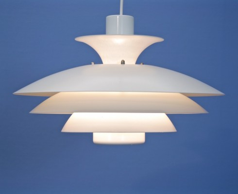 Danish pendant in white, 1960s