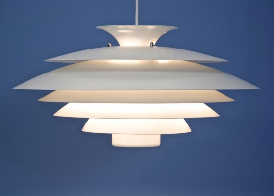 Danish XXL pendant in white, 1960s