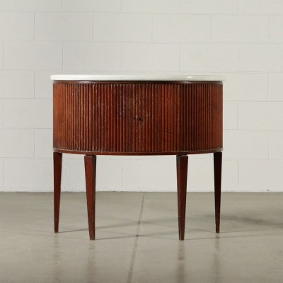 Cabinet in Mahogany Veneer with Marble Top, 1950s