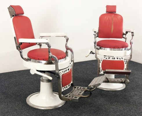 Pair of 50s barber armchairs by Scuderi & Figli
