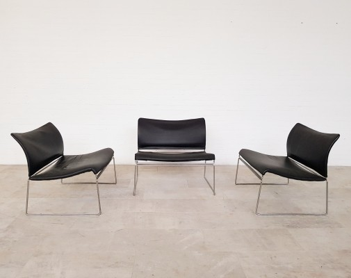 3 Saghi lounge chairs by Kazuhide Takahama for Gavina, 1970s