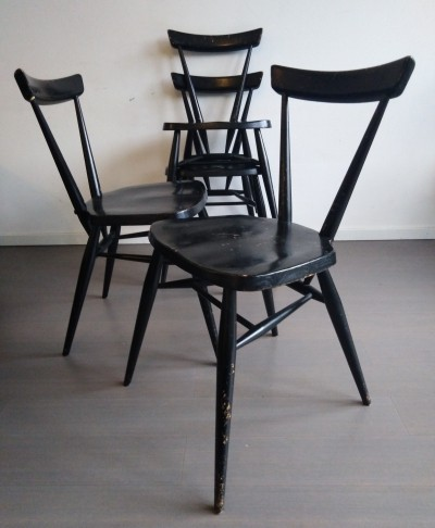 Set of 4 model 392 dinner chairs by Lucian Randolph Ercolani for Ercol, 1960s