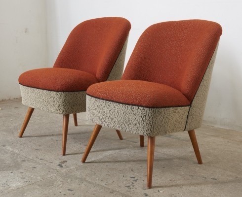 Pair of Cocktail Club Chairs, Switzerland 1950s