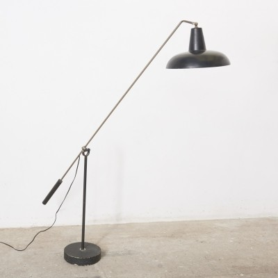 Rare Counter Balance Floor Lamp by Hoogervorst for Anvia, 1950s