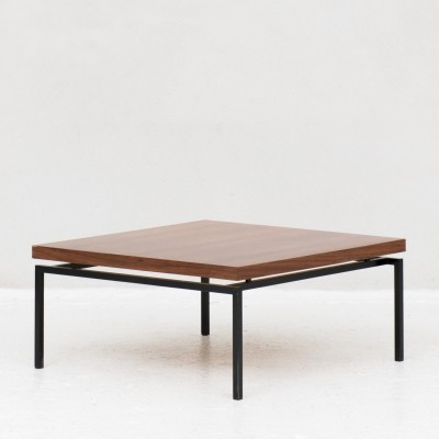 Coffee table in teak veneer & steel by COR, Germany 1960