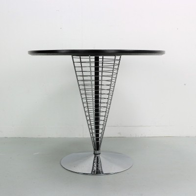 Verner Panton wire cone table by Fritz Hansen, 1990
