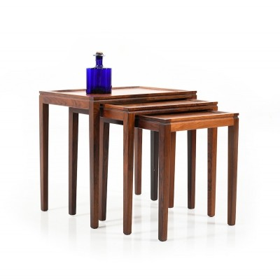Mid Century Danish Nesting Tables in Rosewood
