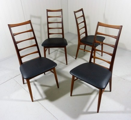 Set of 4 Lis Dining Chairs by Niels Koefoed, Denmark