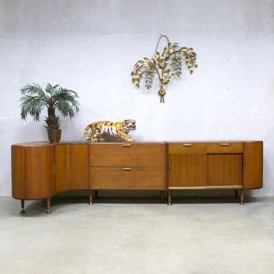 Midcentury modern walnut sideboard by A.A. Patijn for Zijlstra Joure