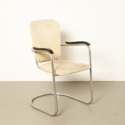 D3 Fana chromed tube frame chair by Paul Schuitema