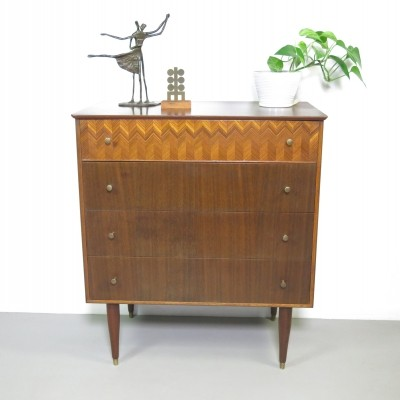 Teak chest of drawers by Peter Hayward for Uniflex, 1960's