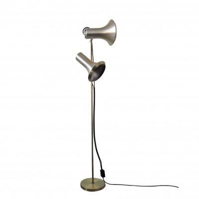 Vintage Pale Gold Floor Lamp, 1960s