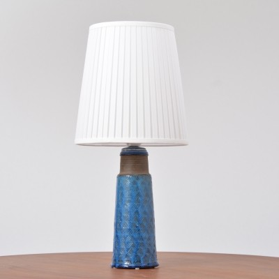 Danish Stoneware Table Lamp with Turquoise Glazing by Nils Kähler