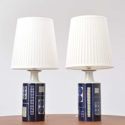 Pair of Royal 9 Tenera Table Lamps by Ingelise Kofoed for Fog & Mørup
