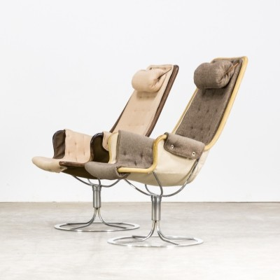 Pair of Bruno Mathsson 'Jetson' chairs for Dux, 1960s