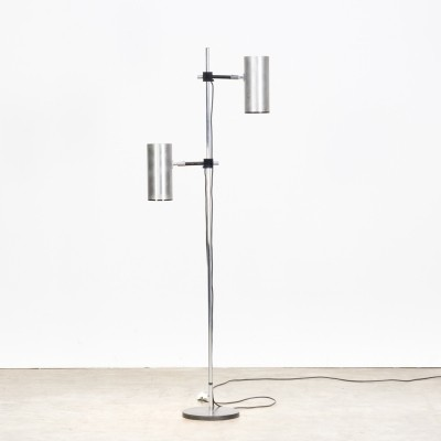 Stainless Steel Shade 'Twin' Floor Lamp by Maria Pergay for Uginox - Ugine Gueugn