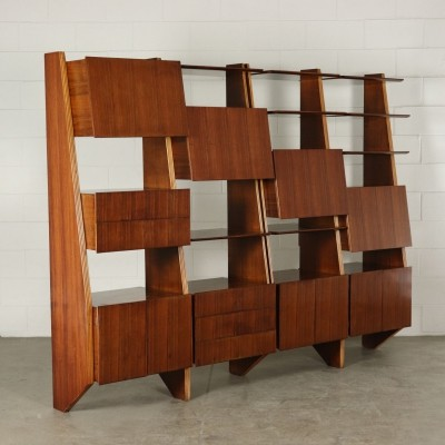 Rosewood Bookcase, Italy 1960s