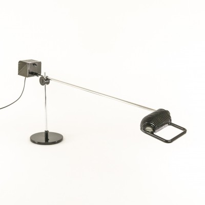Black Maniglia table lamp by De Pas, D'Urbino & Lomazzi for Stilnovo, 1970s