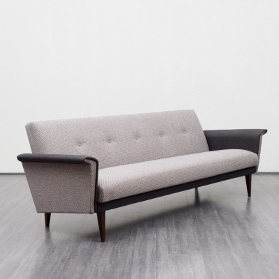 Classic 1960s two coloured sofa with folding mechanism