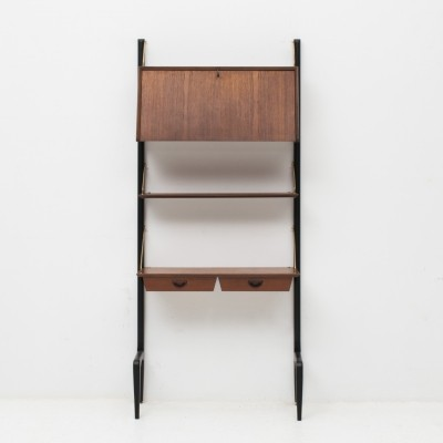 1-piece teak wall unit by Louis van Teeffelen for Wébé, Dutch design 1950