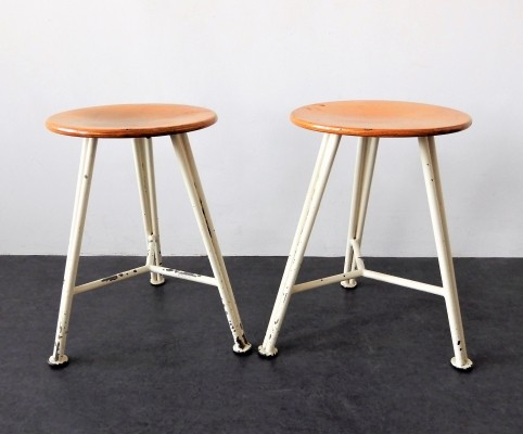 Set of 2 industrial stools from a sewing factory