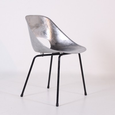 Rare aluminium Tulip chair by Pierre Guariche for Steiner