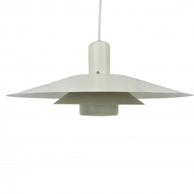 Danish White Pendant Light, 1960s