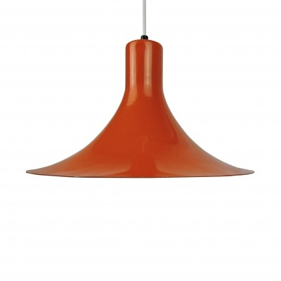 Danish Orange Pendant Light, 1960s