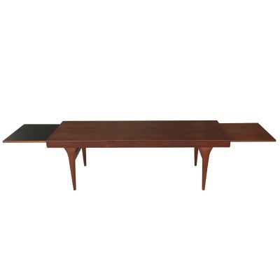 Danish teak extendable coffee table by Johannes Andersen for CFC Silkeborg, 1960s