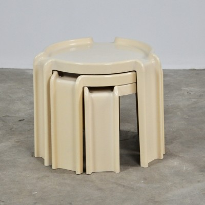 Nesting table by Giotto Stoppino for Kartell, 1970s