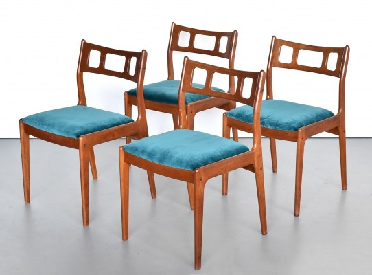 Set of 4 dining chairs by Johannes Andersen for Uldum Møbelfabrik, 1960s