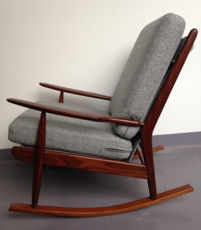 Mid Century British Teak Rocking Chair / Nursing Chair by Scandart