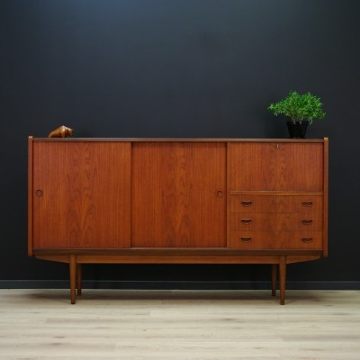 Danish Highboard in teak, 1970s