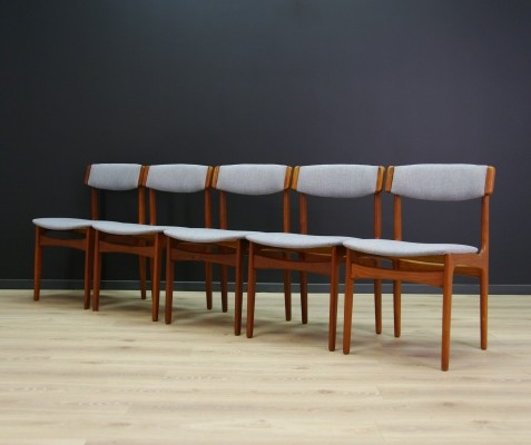 Set of 5 vintage dining chairs, 1970s