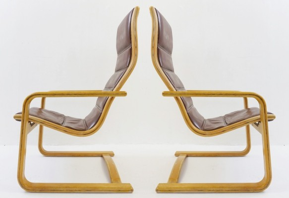 Pair Of Swedese 'Lamello' Easy Chairs by Yngve Ekström