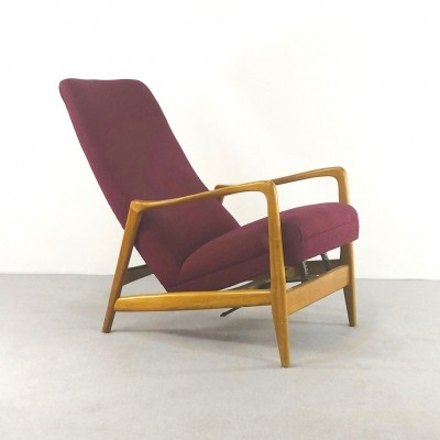 'Model 829' Reclining Armchair by Gio Ponti for Cassina, 1950