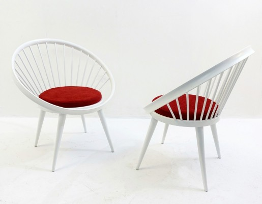 Pair Of Yngve Ekstrom Armchairs