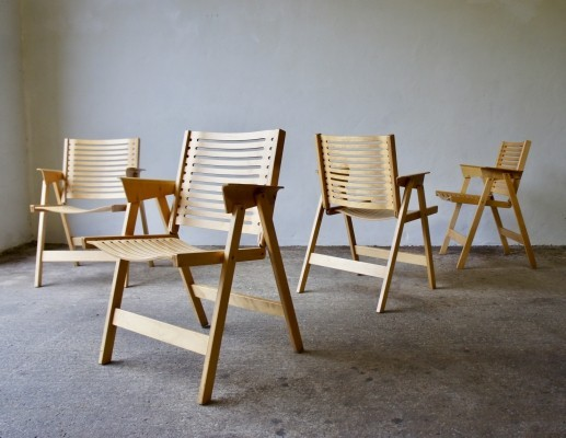 Set ff 4 Rex Chairs By Niko Kralj