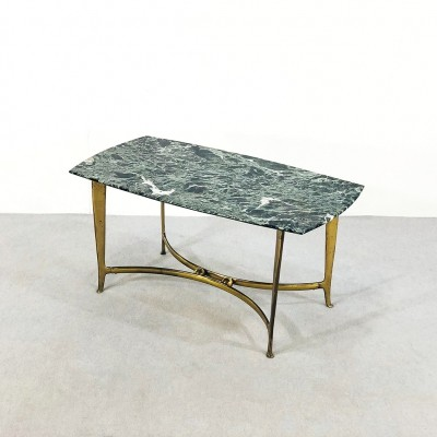 Marble & brass Coffee table by Osvaldo Borsani, 1950s