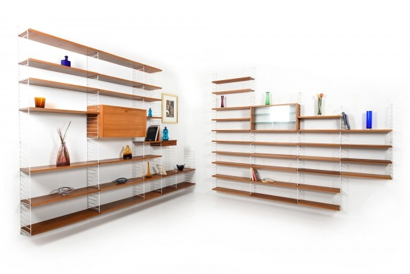 Large String Shelf System by Nisse Strinning in Teak, 1960s