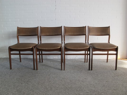 Set of 4 vintage Mid-Century Dining Chairs, 60s