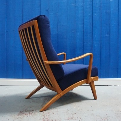 Wilhelm Knoll Antimott High Long Back Armchair from 1950's