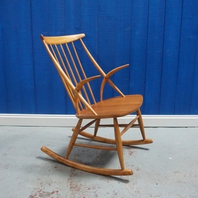 Model IW3 Rocking Chair by Illum Wikkelsø, 1958